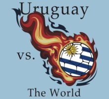 World Cup - Uruguay Versus the World Flaming Football by pjwuebker