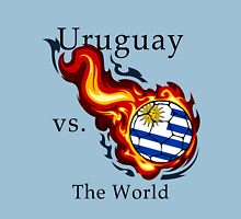 World Cup - Uruguay Versus the World Flaming Football Unisex T-Shirt