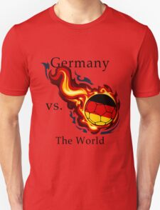 World Cup - Germany Versus the World Flaming Football T-Shirt