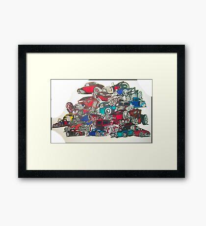 rat rod art original  Framed Print