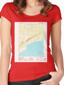 USGS TOPO Map Alaska AK Seldovia C-4 NW 353783 1987 25000 Women's Fitted Scoop T-Shirt