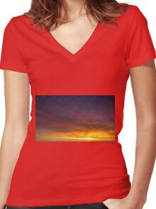 Cloud 20151205-1 Women's Fitted V-Neck T-Shirt