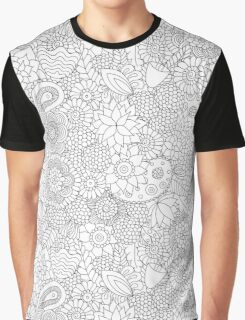Funny doodle b&w Graphic T-Shirt