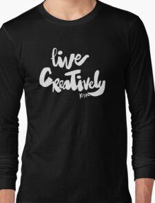 Live Creatively : Dark Long Sleeve T-Shirt