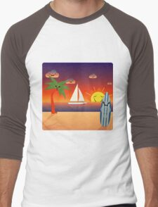 Welcome to Kawaii Hawaii Beach :) Men's Baseball ¾ T-Shirt