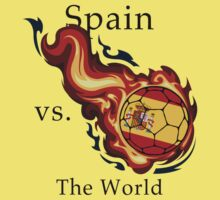 World Cup - Spain Versus the World Flaming Football by pjwuebker