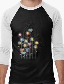 My Groovy Flower Garden Men's Baseball ¾ T-Shirt