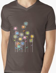 My Groovy Flower Garden Mens V-Neck T-Shirt