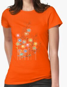My Groovy Flower Garden Womens Fitted T-Shirt