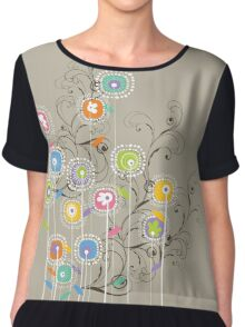 My Groovy Flower Garden Chiffon Top