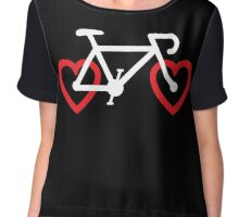 I Love My Bike Chiffon Top
