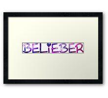 BELIEBER - JUSTIN BIEBER Framed Print