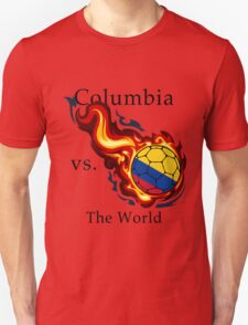 World Cup - Columbia Versus the World Flaming Football T-Shirt