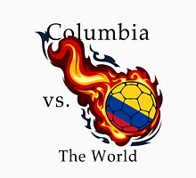 World Cup - Columbia Versus the World Flaming Football Unisex T-Shirt
