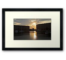 Albert Dock Sunset Framed Print