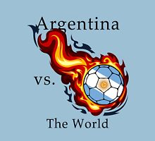 World Cup - Argentina Versus the World Flaming Football Unisex T-Shirt