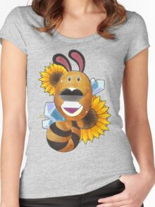 #161 Sentret - Ace Heart Women's Fitted Scoop T-Shirt