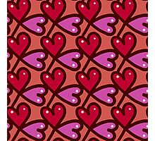 Cute valentine's seamless pattern with hearts Photographic Print