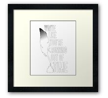 American apparel special t-shirt, you're running out of time Framed Print