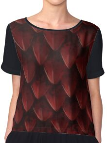 Red Dragon's Scales Chiffon Top