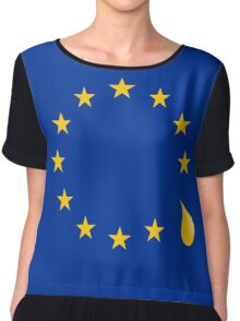 Sad that the UK is leaving the European Union Chiffon Top