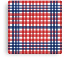 Red patterns tablecloths stylish  Canvas Print