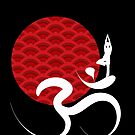 Red Sun, Yoga and Om by fatfatin