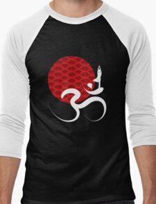 Red Sun, Yoga and Om Men's Baseball ¾ T-Shirt