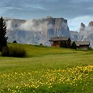 The Schlern in the morning by annalisa bianchetti