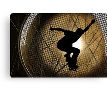 Skateboarder - Into the Sun Canvas Print