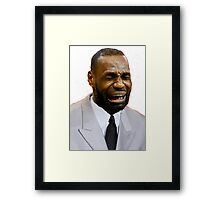 LeBron Crying Framed Print