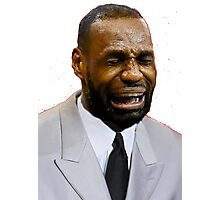 LeBron Crying Photographic Print
