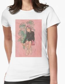 Monstera Womens Fitted T-Shirt