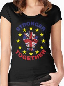 Britain Stronger In Europe, Stronger Together T-shirt Women's Fitted Scoop T-Shirt