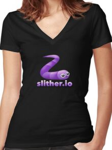 slither.io Women's Fitted V-Neck T-Shirt