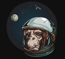 Space Monkey Astronaut Chimp One Piece - Short Sleeve