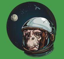 Space Monkey Astronaut Chimp One Piece - Short Sleeve