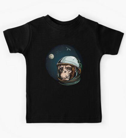Space Monkey Astronaut Chimp Kids Tee