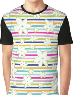 Floral Stripes Graphic T-Shirt