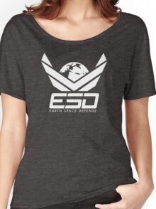 Earth Space Defense (global) white Women's Relaxed Fit T-Shirt