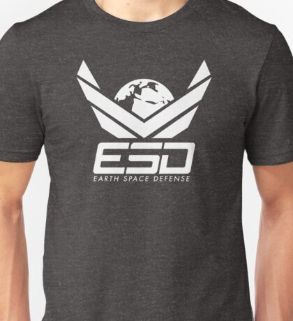 Earth Space Defense (global) white Unisex T-Shirt