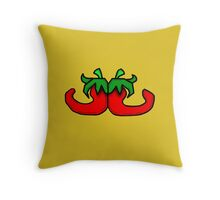 Back 2 Back Chillies Throw Pillow