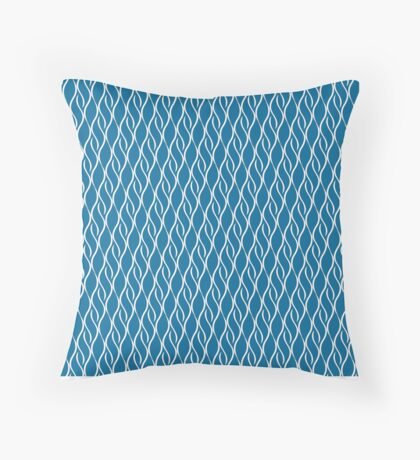 Blue Ribbons Throw Pillow