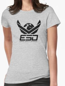 Earth Space Defense (global) Womens Fitted T-Shirt