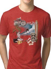 retro beach Tri-blend T-Shirt