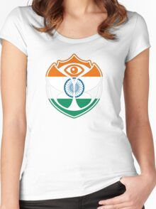 Tomorrowland India logo - Inde Women's Fitted Scoop T-Shirt