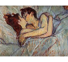 In Bed The Kiss by Henri de Toulouse-Lautrec Photographic Print