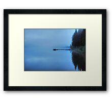 Lonely Lake in Mist Framed Print