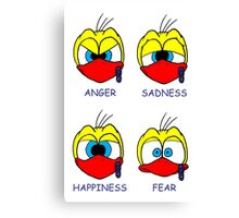 Rick the chick facial expressions Canvas Print