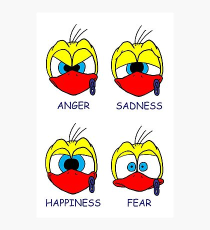 Rick the chick facial expressions Photographic Print